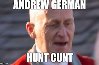 andrew german hunt cunt