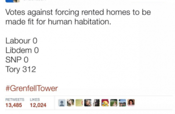 Tory votes against 'fit for human habitation' amendment.