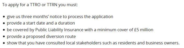 TTRO Requirements - Devon