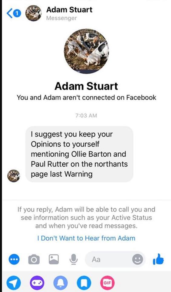 marc birney threat on facebook